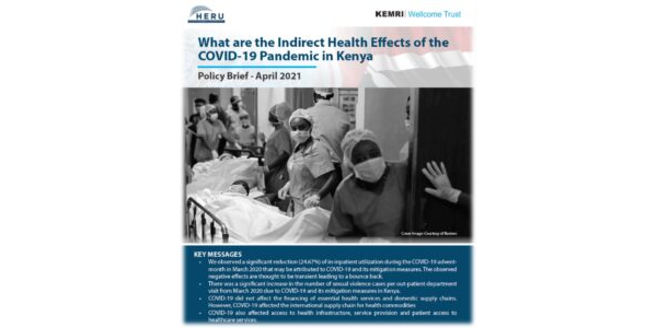 What are the Indirect Health Effects of the COVID-19 Pandemic in Kenya